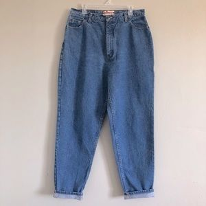VTG Faded Glory Reverse fit Mom jeans tapered leg